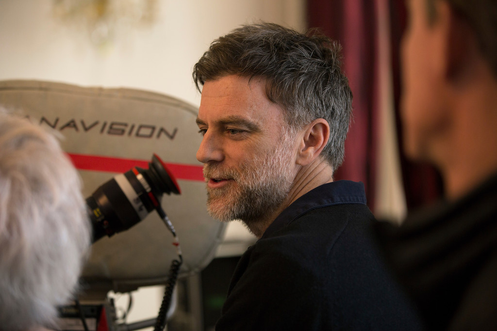 ". This image released by Focus Features shows Paul Thomas Anderson on the set of ""Phantom Thread.\""  Anderson was nominated for an Oscar for best director, Tuesday, Jan. 23, 2018. The 90th Oscars will air live on ABC on Sunday, March 4. (Laurie Sparham/Focus Features via AP)"