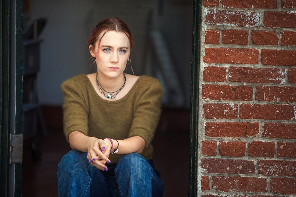". This image released by A24 Films shows Saoirse Ronan in a scene from ""Lady Bird.\"" Ronan was nominated for an Oscar for best actress on Tuesday, Jan. 23, 2018. The 90th Oscars will air live on ABC on Sunday, March 4.  (Merie Wallace/A24 via AP)"