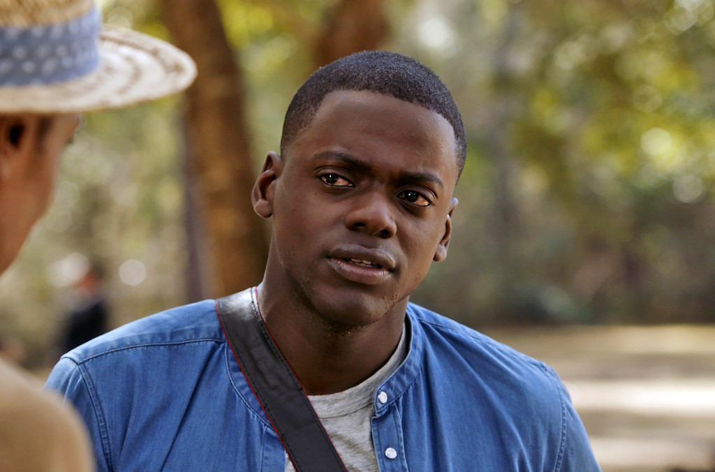 ". This image released by Universal Pictures shows Daniel Kaluuya in a scene from, ""Get Out.\"" Kaluuya was nominated for an Oscar for best actor on Tuesday, Jan. 23, 2018. The 90th Oscars will air live on ABC on Sunday, March 4. (Universal Pictures via AP)"