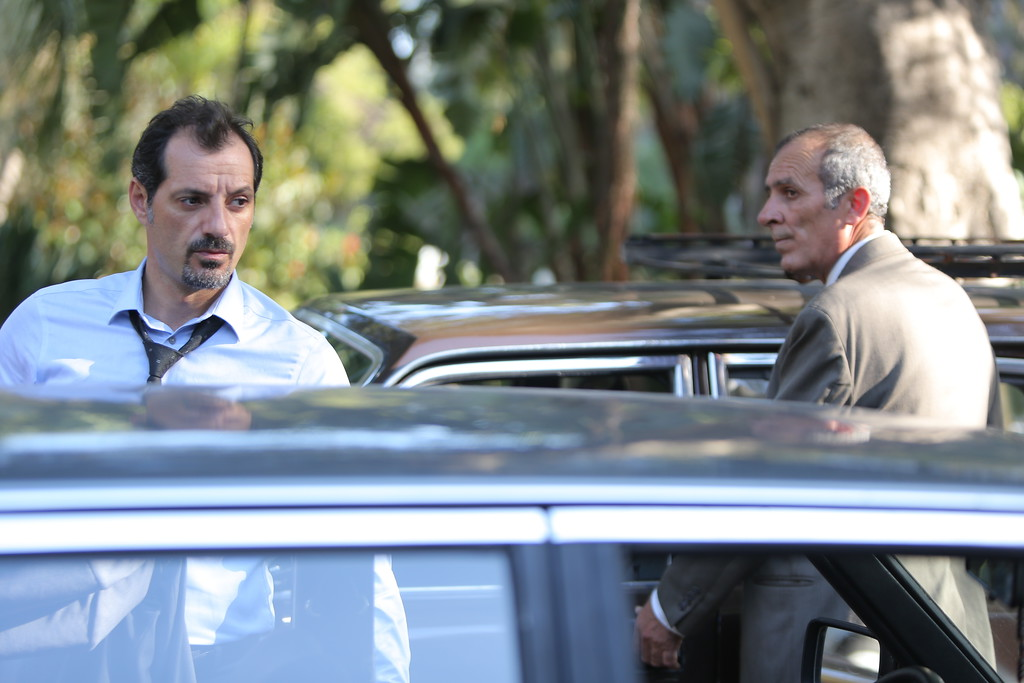 ". This image released by Cohen Media Group shows Adel Karam, left, and Kamel El Basha in a scene from ""The Insult.\"" The film was nominated for an Oscar for best foreign picture on Tuesday, Jan. 23, 2018. The 90th Oscars will air live on ABC on Sunday, March 4. (Cohen media Group via AP)"