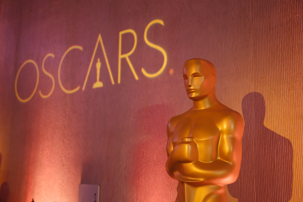 . FILE - In this Feb. 6, 2017 file photo, an Oscar statue is places inside the ballroom at the 89th Academy Awards Nominees Luncheon in Beverly Hills, Calif. Nominations for the 90th Academy Awards were announced on Tuesday, Jan. 23, 2018. (Photo by Danny Moloshok/Invision/AP, File)