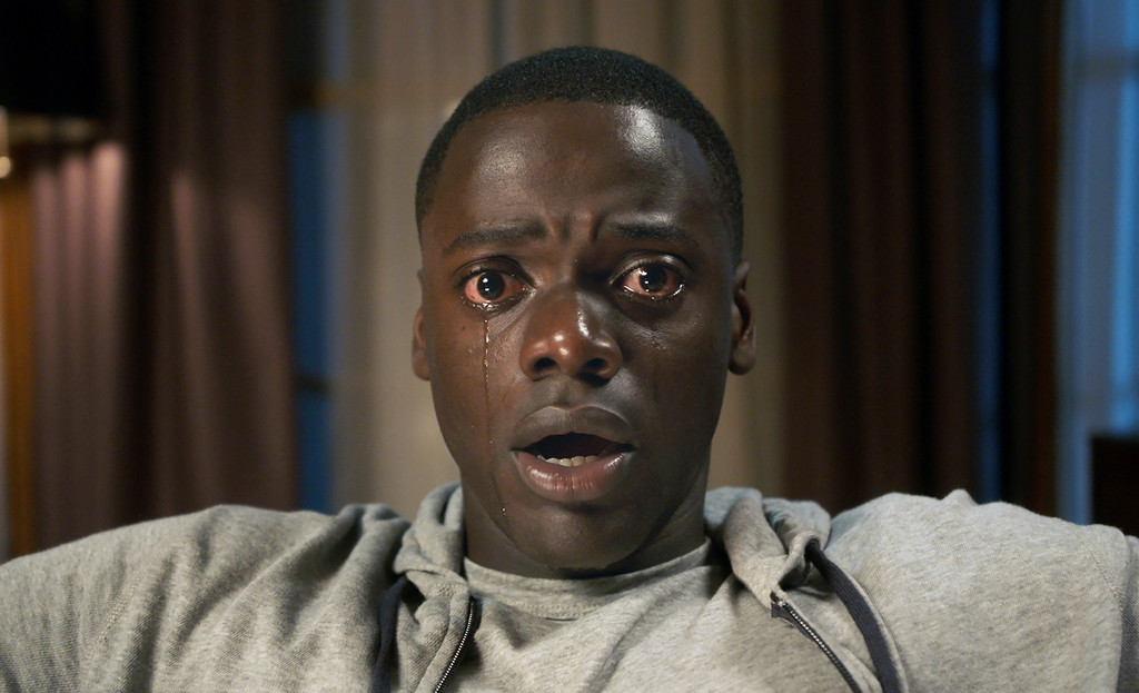 ". This image released by Universal Pictures shows Daniel Kaluuya in a scene from, ""Get Out.\"" The film was nominated for an Oscar for best picture on Tuesday, Jan. 23, 2018. The 90th Oscars will air live on ABC on Sunday, March 4. (Universal Pictures via AP)"