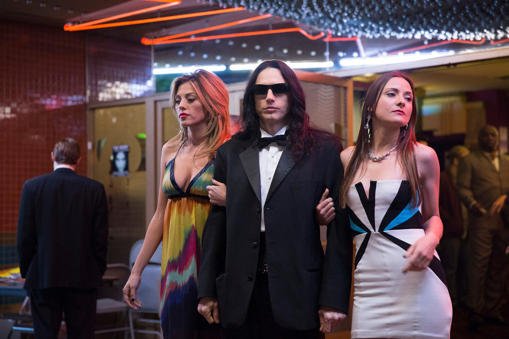 ". This image released by A24 shows James Franco in a scene from ""The Disaster Artist.\"" Franco failed to receive an Oscar nomination for best actor on Tuesday, Jan. 23, 2018.  (Justina Mintz/A24 via AP)"