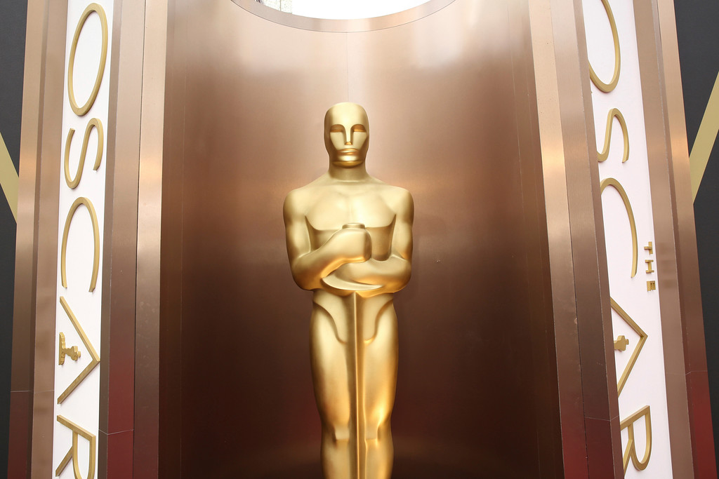 . FILE - In this March 2, 2014 file photo, an Oscar statue is displayed at the Oscars at the Dolby Theatre in Los Angeles. Nominations for the 90th Oscars will be announced on Tuesday, Jan. 23, 2018. (Photo by Matt Sayles/Invision/AP, File)