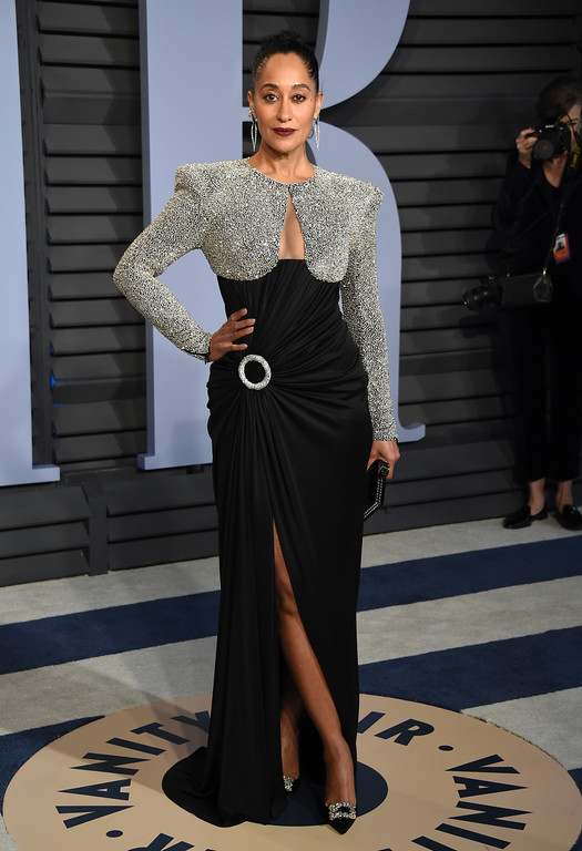 . Tracee Ellis Ross arrives at the Vanity Fair Oscar Party on Sunday, March 4, 2018, in Beverly Hills, Calif. (Photo by Evan Agostini/Invision/AP)