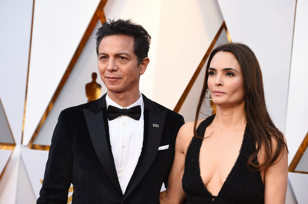 . Benjamin Bratt, left, and Talisa Soto arrive at the Oscars on Sunday, March 4, 2018, at the Dolby Theatre in Los Angeles. (Photo by Jordan Strauss/Invision/AP)