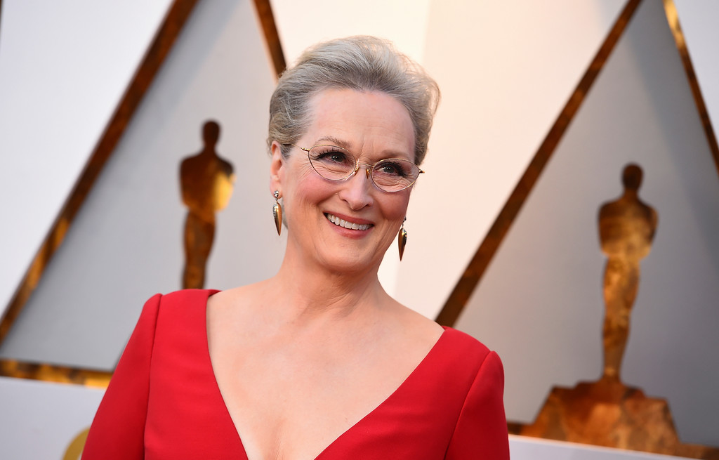 . Meryl Streep arrives at the Oscars on Sunday, March 4, 2018, at the Dolby Theatre in Los Angeles. (Photo by Jordan Strauss/Invision/AP)