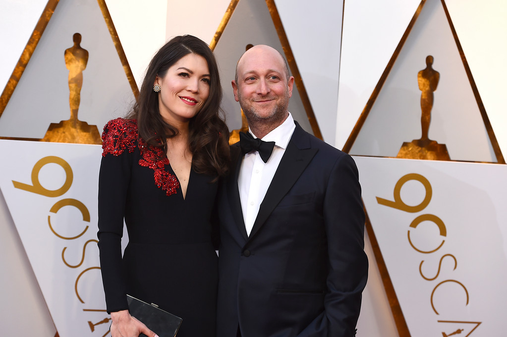 . Amber Green, left, and Michael Green arrive at the Oscars on Sunday, March 4, 2018, at the Dolby Theatre in Los Angeles. (Photo by Jordan Strauss/Invision/AP)