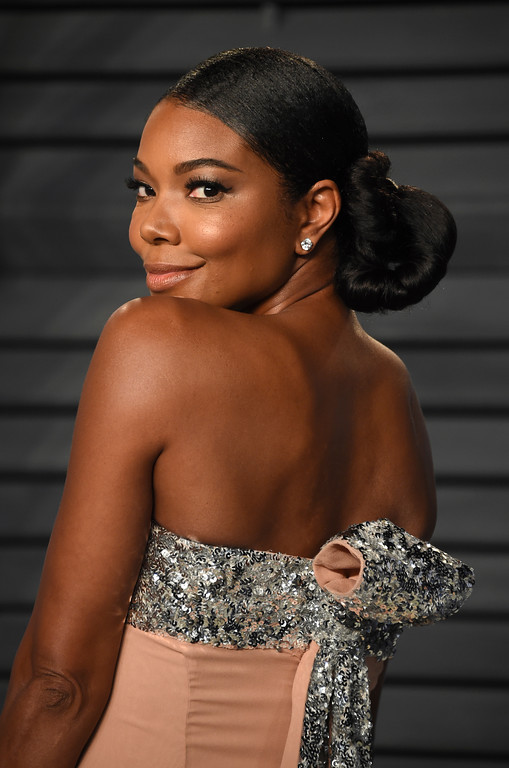 . Gabrielle Union arrives at the Vanity Fair Oscar Party on Sunday, March 4, 2018, in Beverly Hills, Calif. (Photo by Evan Agostini/Invision/AP)