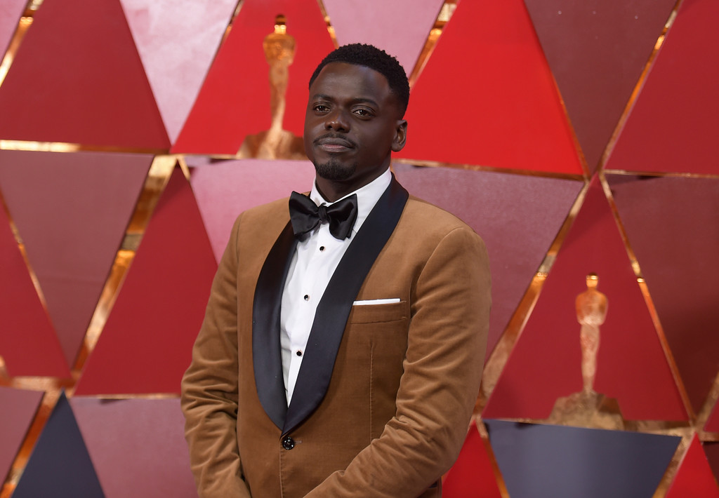 . Daniel Kaluuya arrives at the Oscars on Sunday, March 4, 2018, at the Dolby Theatre in Los Angeles. (Photo by Richard Shotwell/Invision/AP)