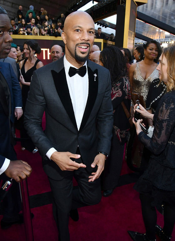 . Common arrives at the Oscars on Sunday, March 4, 2018, at the Dolby Theatre in Los Angeles. (Photo by Charles Sykes/Invision/AP)