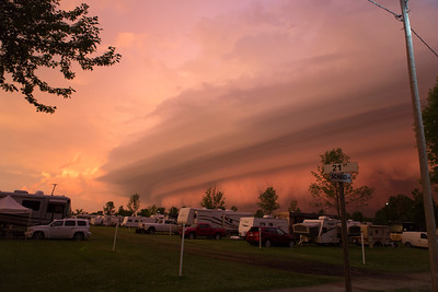 First sight of this startling shelf cloud.