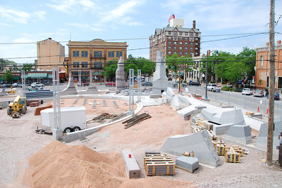 A new plaza was under construction.