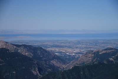 Day two, after departing Ogden, looking west back at the Ogden airport and Great Salt Lake.