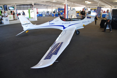 "This ""solar-assist"" aircraft was supposed to fly on Wednesday, but that was rain day.  I didn't hear if it got another chance."