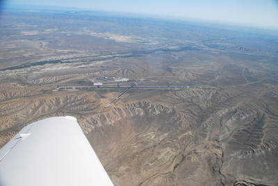 Passing over Rock Springs, Wyoming airport.