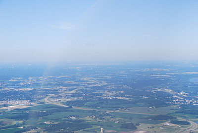 Approaching my next overnight stop, Flying Cloud airport in Eden Prairie, MN.  Downtown Minneapolis can be faintly seen in the distance.