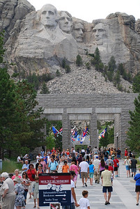 I also visited Mount Rushmore from the ground.