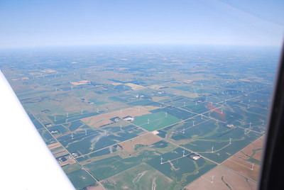I flew over quite a few large windmill installations in Wyoming and South Dakota.  This was one of the largest.