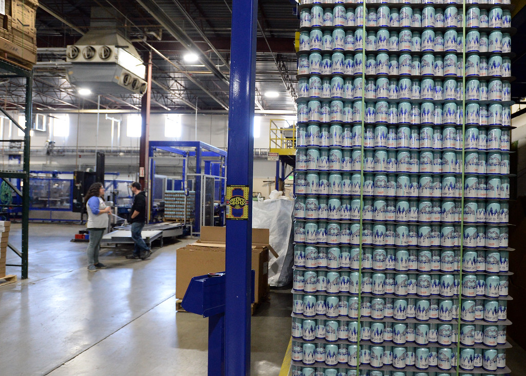 . LONGMONT, CO - October 12, 2018: Thousands of units of water are being canned at Oskar Blues in Longmont on Friday for Hurricane Michael relief. The Can\'d Aid Foundation has partnered with Oskar Blues Brewery and Ball Corporation  to provide canned water for disaster relief.   (Photo by Cliff Grassmick/Staff Photographer)