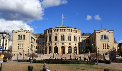 Όσλο. Το κτήριο του Κοινοβουλίου