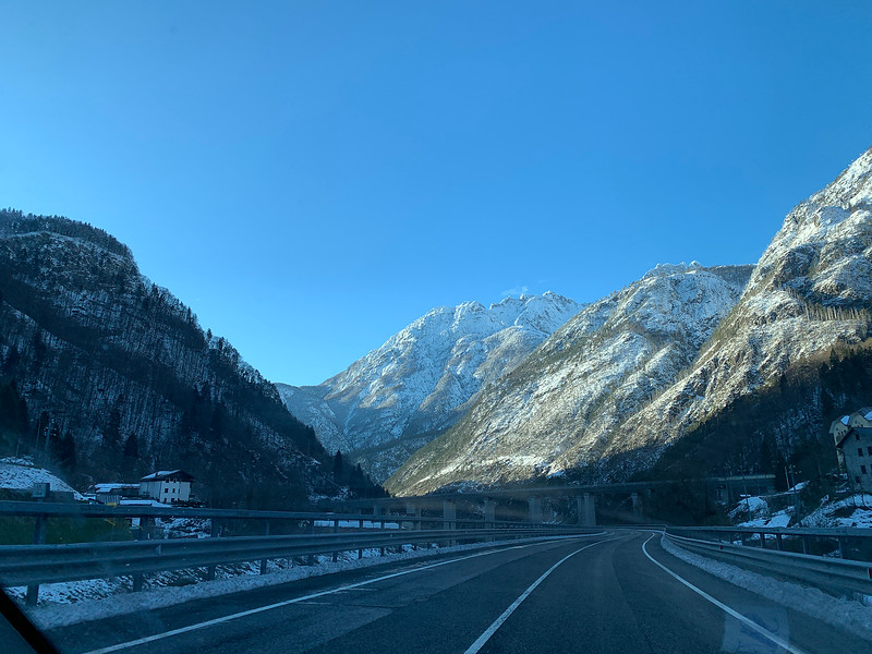 On my way from the Alps