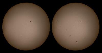 Dráha přechodu Merkuru před Sluncem 2016