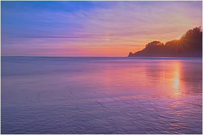 Sunset, Oswald West State Park, Oregon