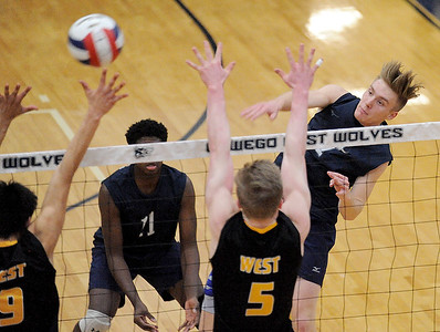 Oswego East boys volleyball - April 3, 2018