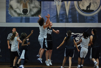 Girls Basketball Blue Silver Scrimmage 197