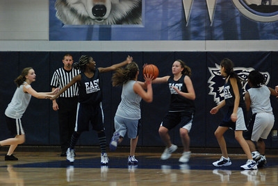 Girls Basketball Blue Silver Scrimmage 196