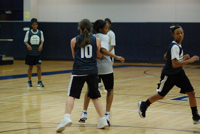 Girls Basketball Blue Silver Scrimmage 331