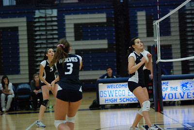 Oswego East volleyball Vs plainfield East 154