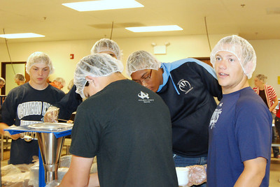 OEHS Football community  service 035