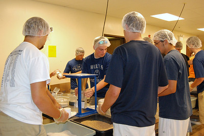 OEHS Football community  service 026