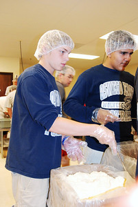 OEHS Football community  service 039
