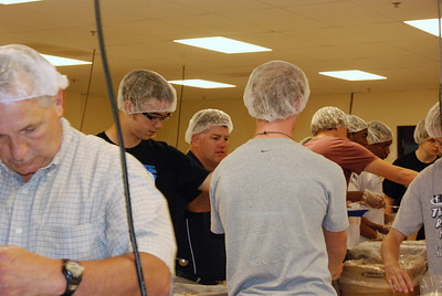 OEHS Football community  service 029