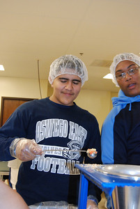 OEHS Football community  service 036