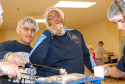 OEHS Football community  service 037