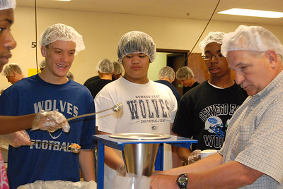 OEHS Football community  service 028