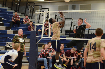 Oswego East boys volleyball(Volley for the troops) 2012 033