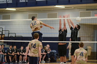 Oswego East boys volleyball(Volley for the troops) 2012 012