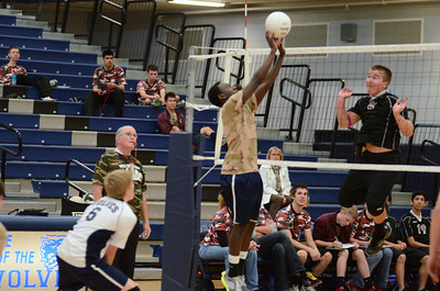Oswego East boys volleyball(Volley for the troops) 2012 032