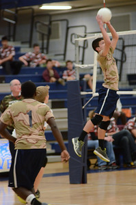 Oswego East boys volleyball(Volley for the troops) 2012 007