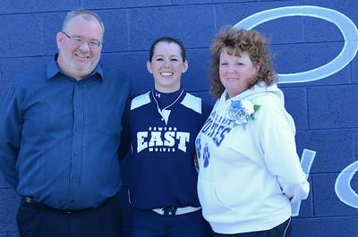 Oswego East girls softball senior night Vs Rosary 2012 039