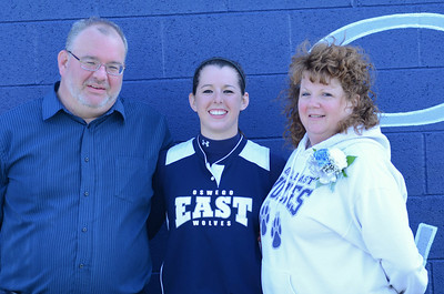 Oswego East girls softball senior night Vs Rosary 2012 040