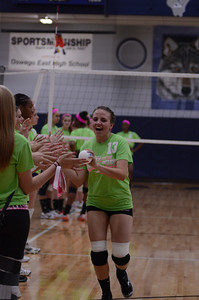 Oswego East Vs Oswego (Volley for a cure 2012) 175