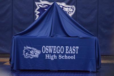 Oswego East Pep Rally 2012-2013 Bowling team 027