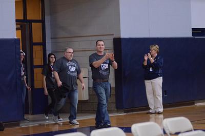 Oswego East Pep Rally 2012-2013 Bowling team 031