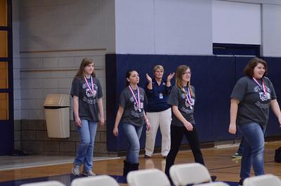 Oswego East Pep Rally 2012-2013 Bowling team 035